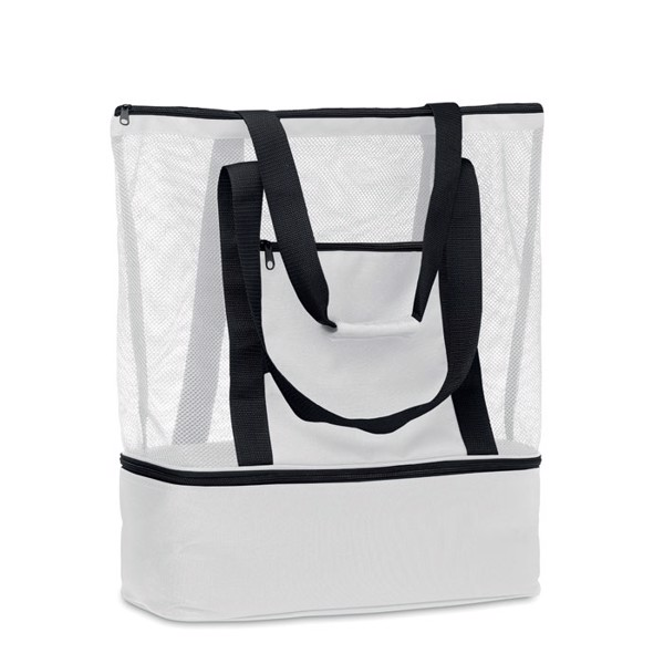 Beach bag w cooler compartment - White