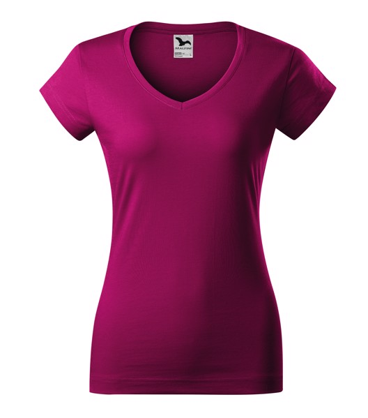 Tričko dámské Malfini Fit V-neck - Fuchsia Red / XL