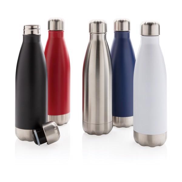 Vákuumszigetelt palack rozsdamentes acélból - Piros