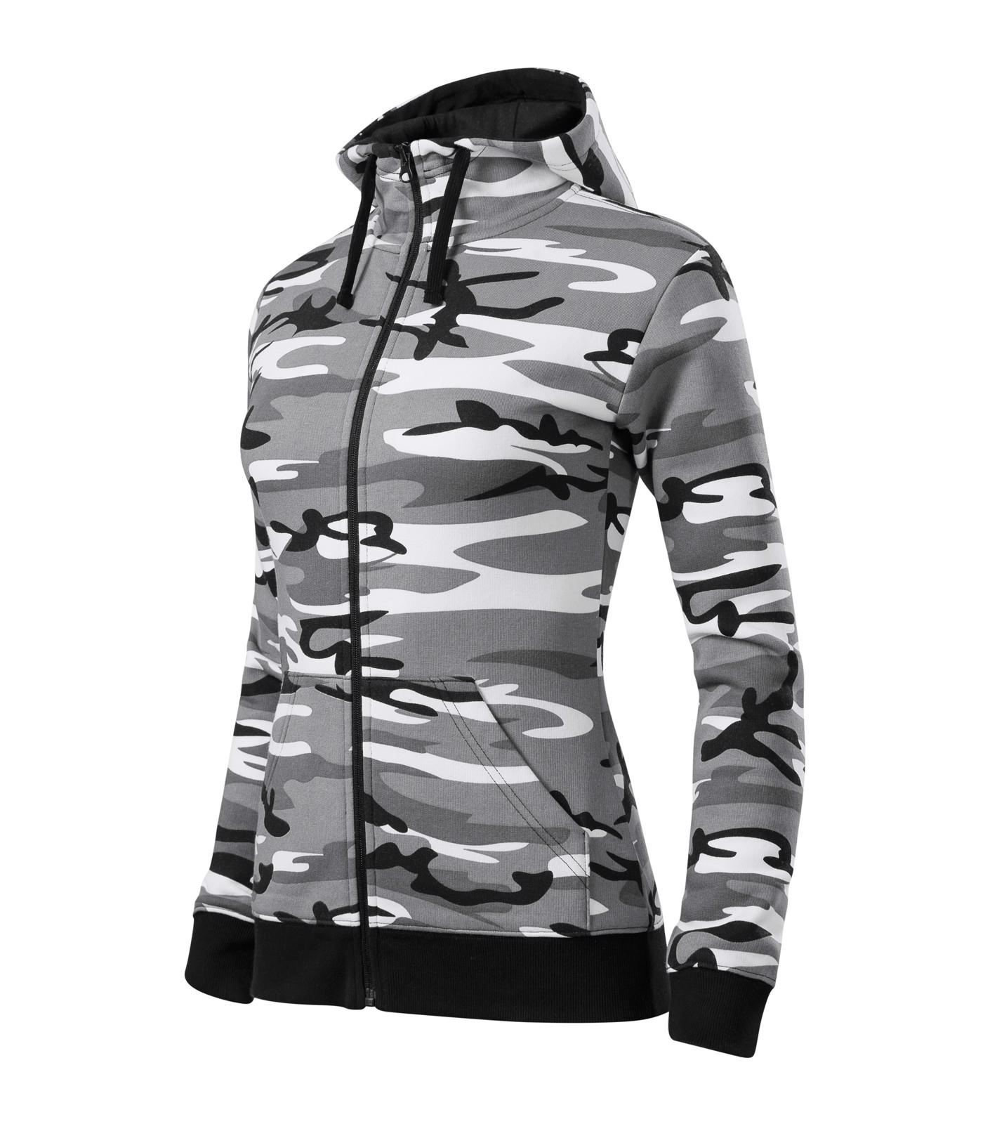Mikina dámská Malfini Camo Zipper - Camouflage Gray / M