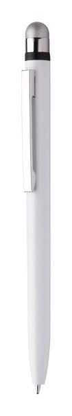 Antibakterieller Kugelschreiber/Touchpen Verne - Weiß / Silber