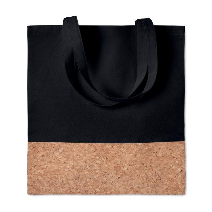 Shopping bag cork details Illa Tote - Black