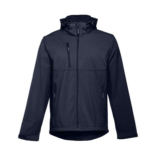 THC ZAGREB. Pánská softshellová bunda se snímatelnou kapucí - Námořnická Modrá / XXL