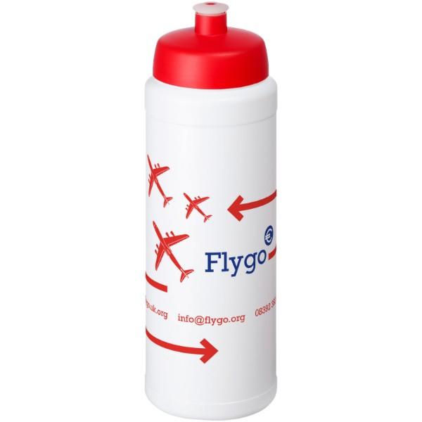 Baseline® Plus 750 ml lahev se sportovním víčkem - Bílá / Červená s efektem námrazy