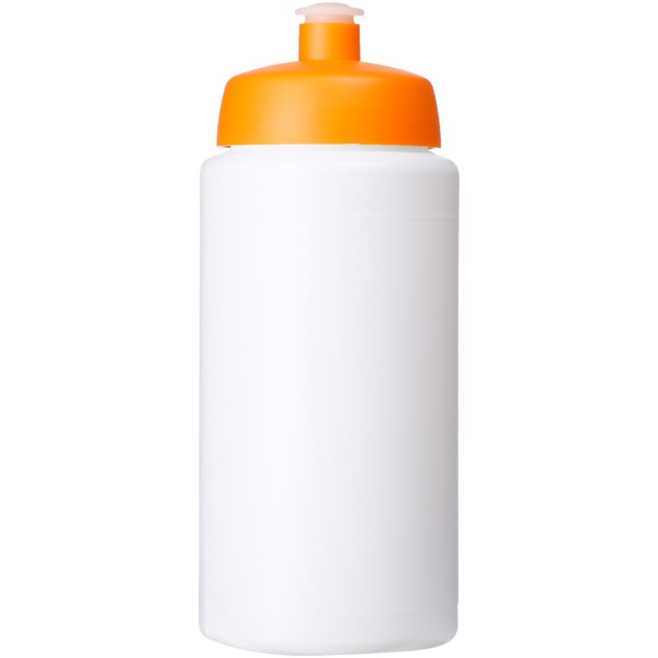 Baseline® Plus grip 500 ml sports lid sport bottle - White / Orange