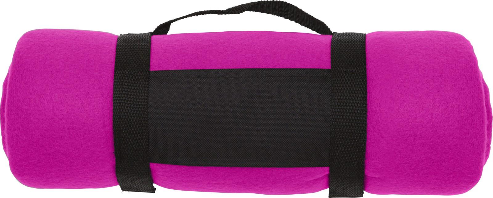 Polar fleece (170-180 gr/m²) blanket - Pink