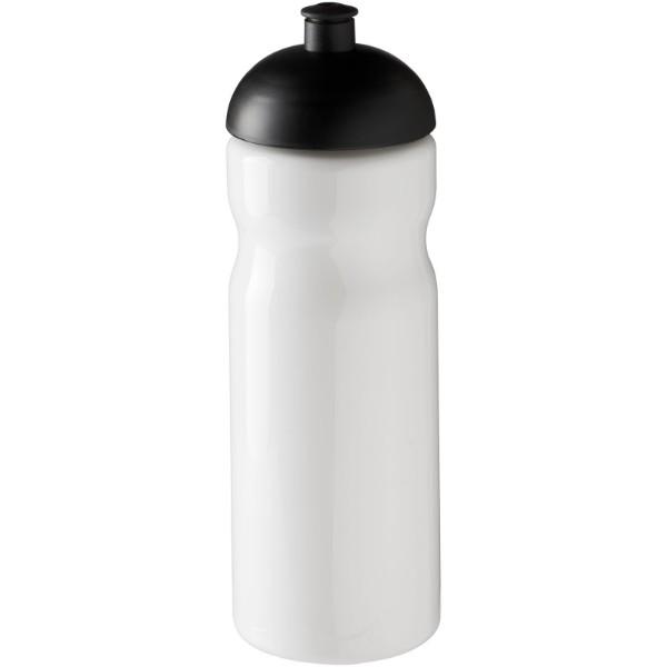 Sportovní láhev s kupolovitým víčkem H2O Base® 650 ml - Bílá / Černá