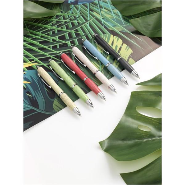 Nash wheat straw chrome tip ballpoint pen - Chrome