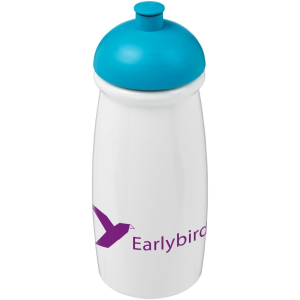 H2O Pulse® 600 ml dome lid sport bottle - White / Aqua