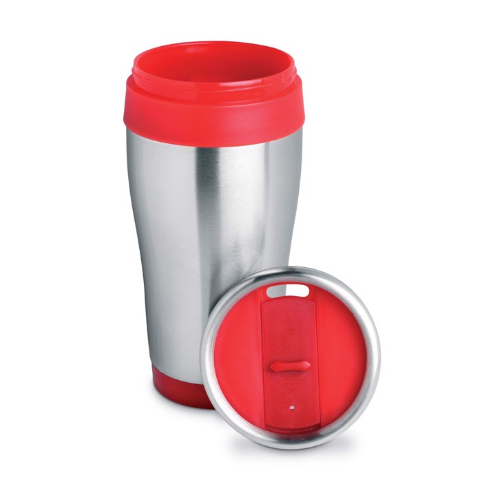 Stainless steel mug Tram - Red