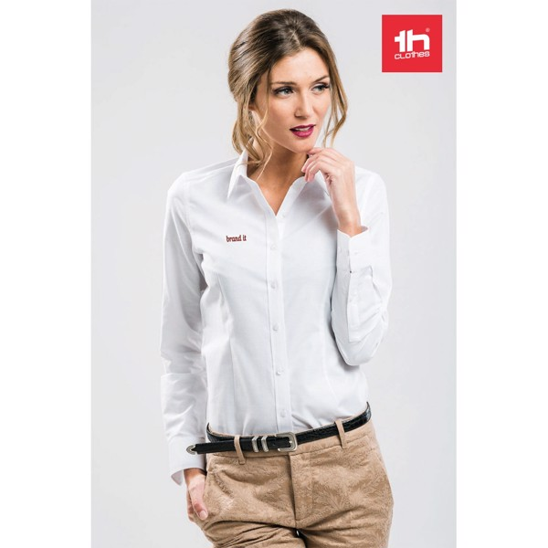 THC TOKYO WOMEN WH. Camisa oxford para mujer - Blanco / XXL