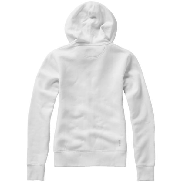 Dámská mikina Arora s kapucí, zip v celé délce - Bílá / XS