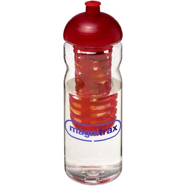 H2O Base Tritan™ 650 ml dome lid bottle & infuser - Transparent / Red