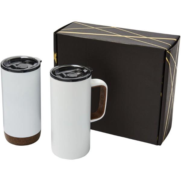 Valhalla Geschenkset aus zwei Kupfer-Vakuum Isolierbechern - Weiss