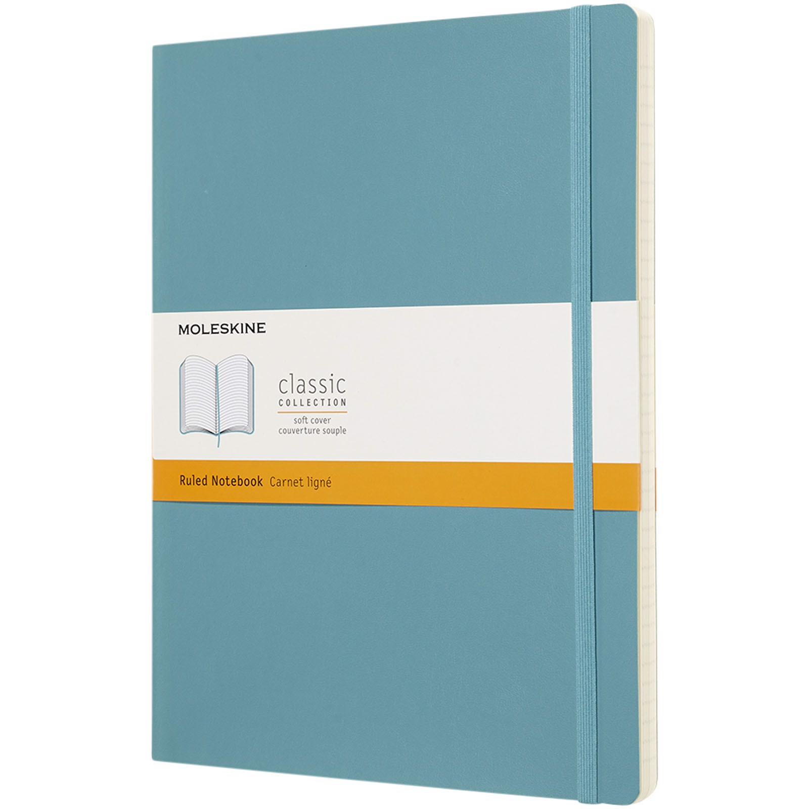Classic XL soft cover notebook - ruled - Reef Blue