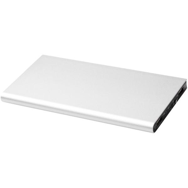 Plate 8000 mAh Aluminium-Powerbank - Silber