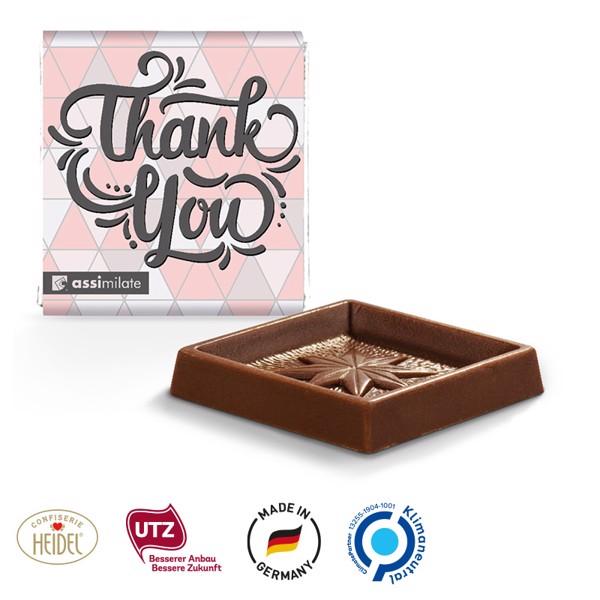 Quadrat Täfelchen Schokolade