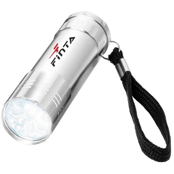 Svítilna Leonis s 9 LED - Stříbrný