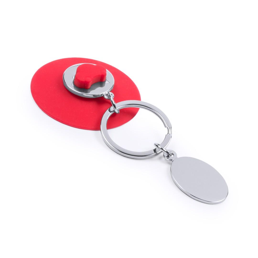 Porta-Chaves Moeda Coltax - Vermelho
