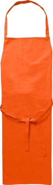 Cotton (180 gr/m²) apron - Orange
