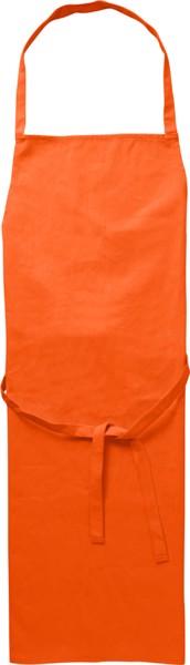 Cotton (180 gr/m²) apron - Orange