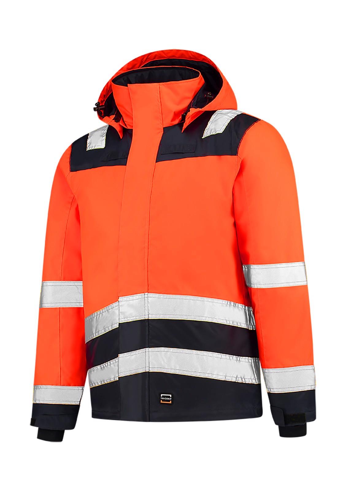Pracovní bunda unisex Tricorp Midi Parka High Vis Bicolor - Fluorescenční Oranžová / L