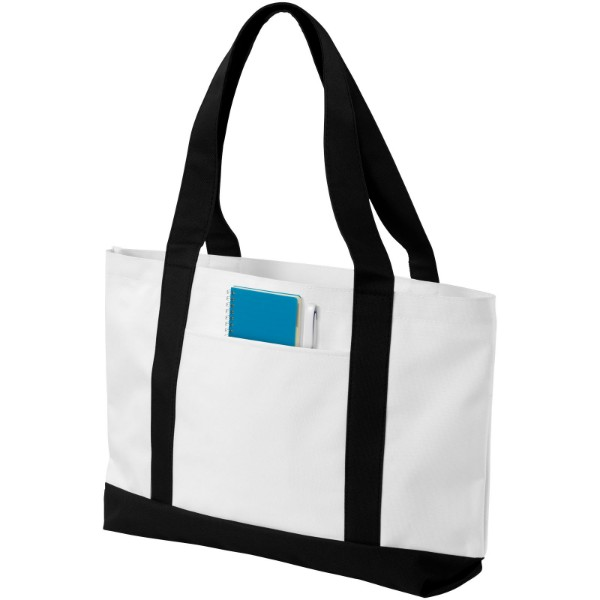 Madison tote bag - White / Solid Black