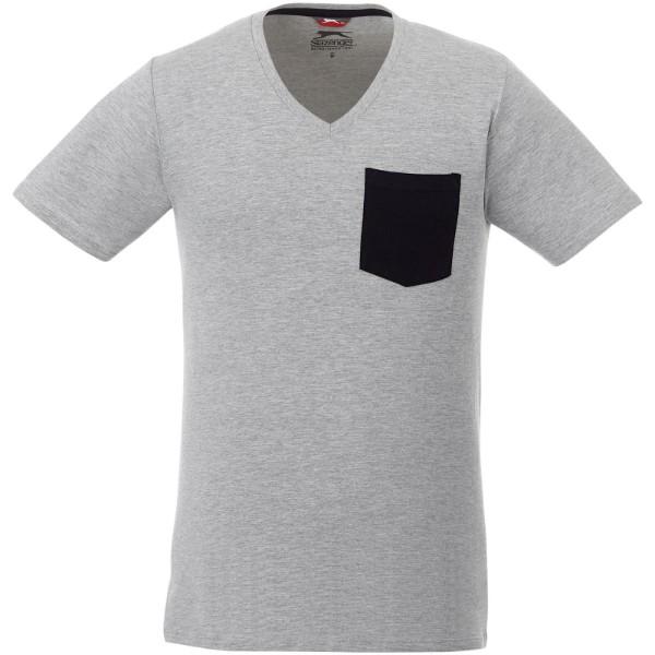 Gully T-Shirt mit Tasche für Herren - Sportgrau / Navy / L