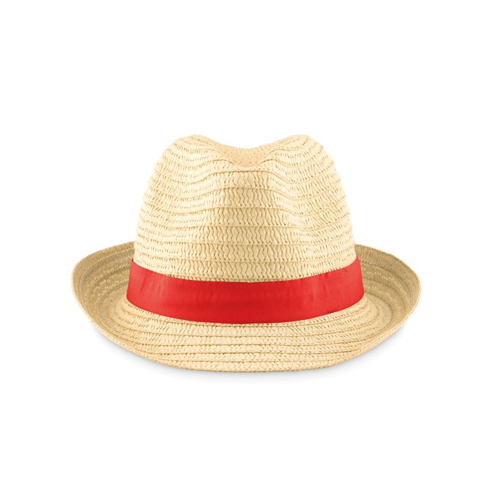 Paper straw hat Boogie - Red