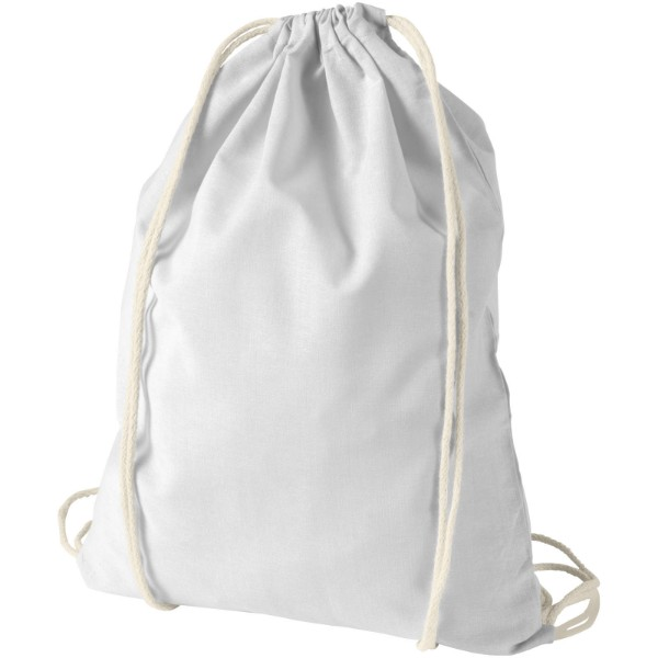 Oregon 100 g/m² cotton drawstring backpack