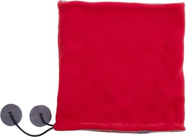 Polyester fleece (240 gr/m²) 2-in-1 beanie - Red