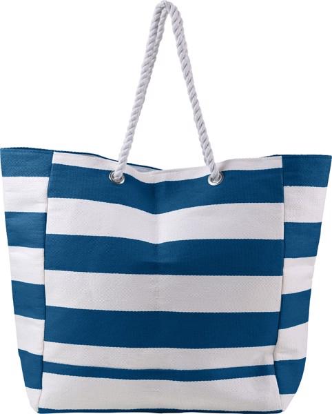 Cotton beach bag - Blue