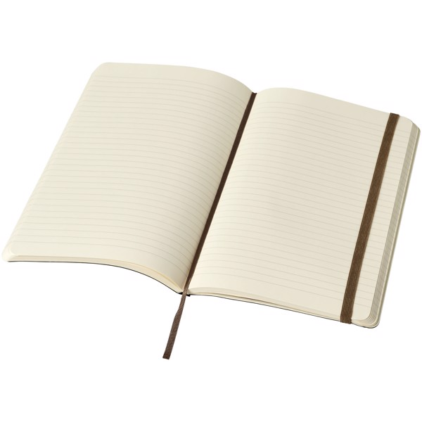 Classic L soft cover notebook - ruled - Earth brown