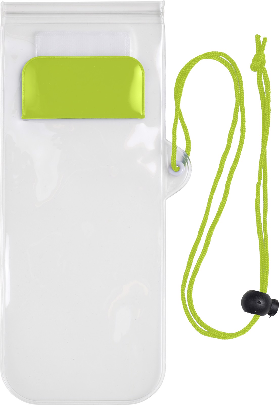 PVC pouch for mobile devices - Lime