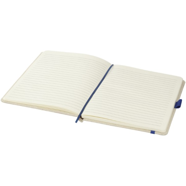 Luna A5 canvas notebook - Blue