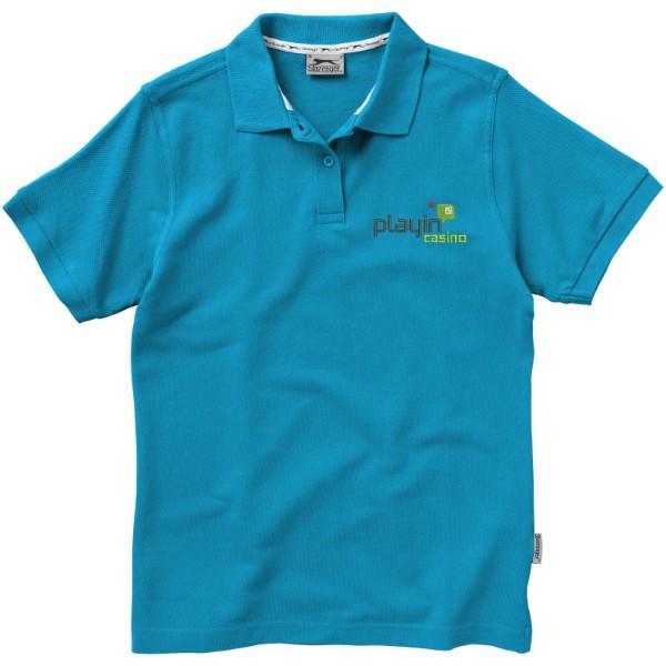 Forehand short sleeve ladies polo - Aqua / XL