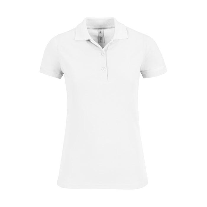 Damen Polo Shirt 180 g/m2 Safran Timeless Women - White / M