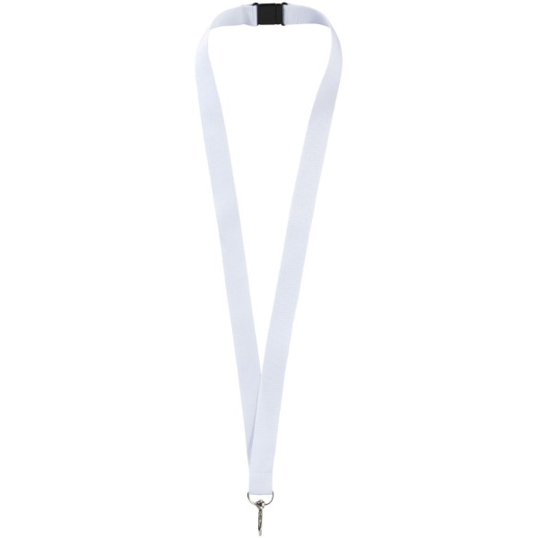 Lago lanyard with break-away closure - White