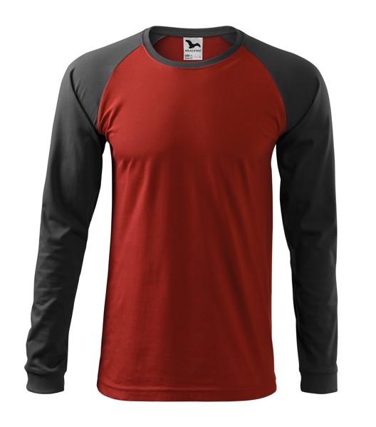T-shirt men's Malfini Street LS - Marlboro Red / XL