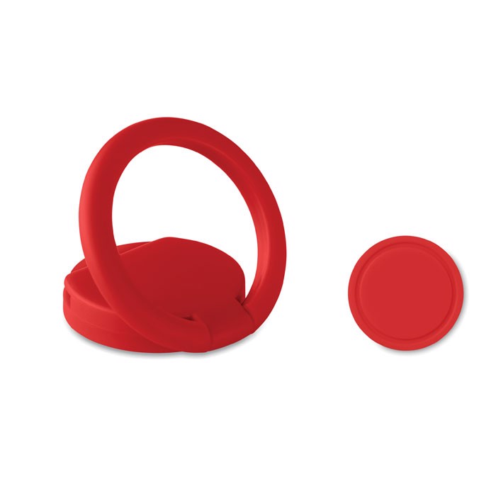 Ring phone holder with token - Red