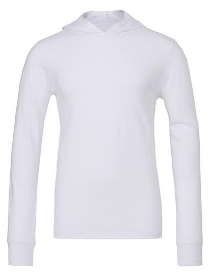 Unisex Jersey Long Sleeve Hoodie - White / M