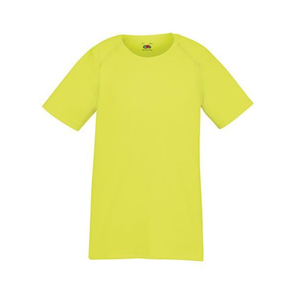 Performance T Kids - Amarelo Fluorescente