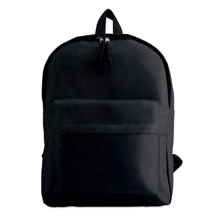 Plecak z zewnętrzną kieszenią Bapal - czarny