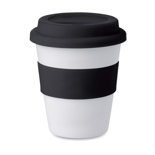PP tumbler with silicone lid Astoria - Black