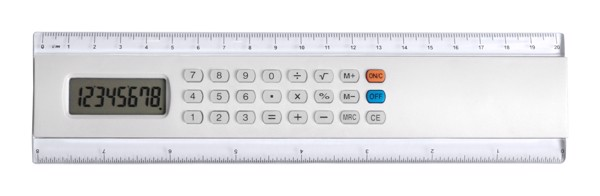 Calculator Ruler Profex - White