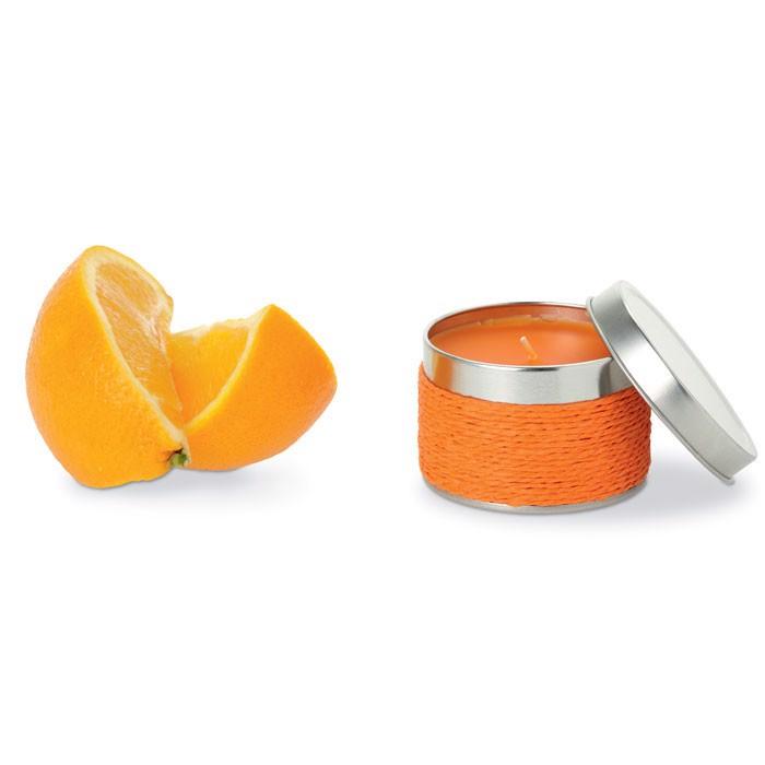 Świeczka zapachowa Delicious - pomarańczowy