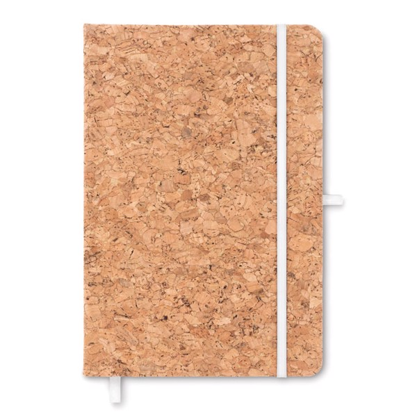 A5 notebook with cork cover Suber - White
