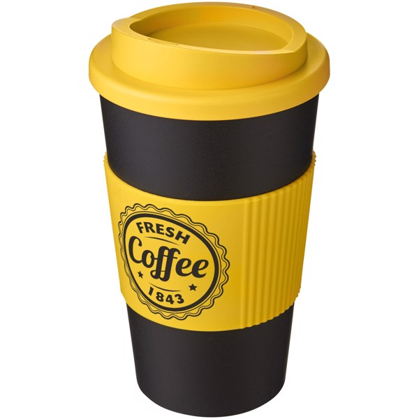 Termo hrnek s rukojetí Americano® 350 ml - Černá / Žlutá