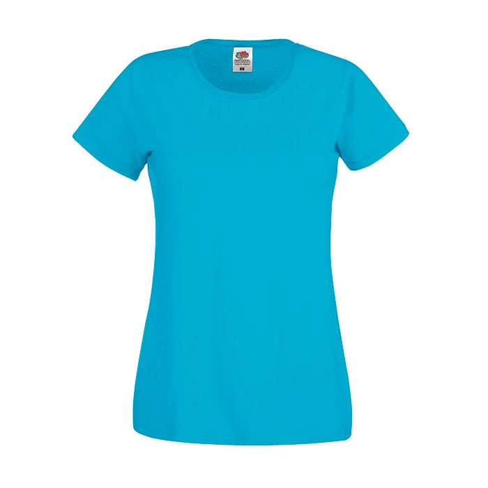 Lady-Fit T-shirt 145 g/m² Lady-Fit Original Tee 61-420-0 - Azure Blue / M