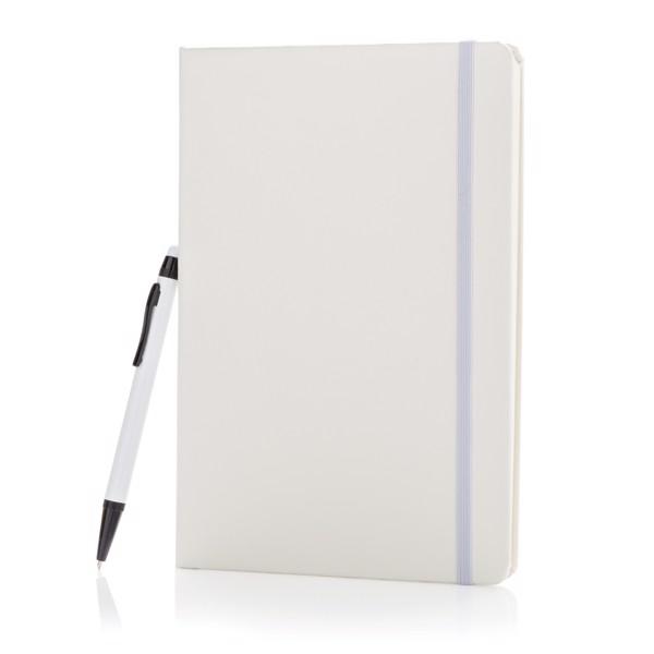 Základní poznámkový blok A5 se stylusovým perem - Bílá